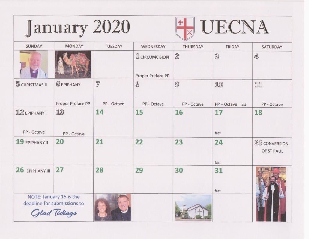 2020 Ordo Calendar